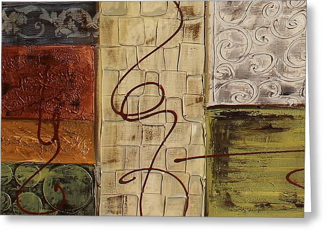 Rectangles Greeting Cards - Copper Dreams-C-JP3492 Greeting Card by Jean Plout