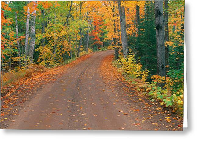 Colors Of Autumn Greeting Cards - Copper Harbor, Autumn, Keweenaw Greeting Card by Panoramic Images