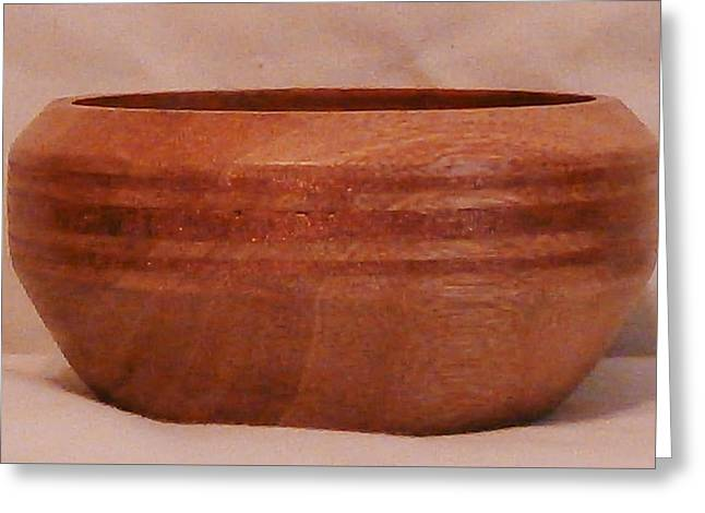 Woodcarving Sculptures Greeting Cards - Copper Inlayed Bowl Greeting Card by Russell Ellingsworth