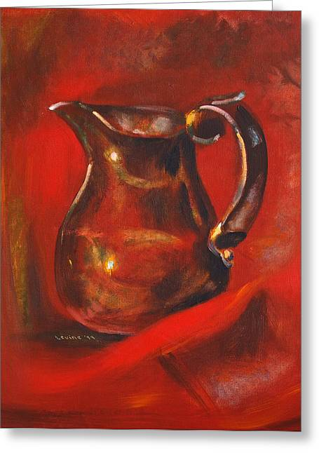 Old Pitcher Greeting Cards - Copper Pitcher Greeting Card by Joseph Levine