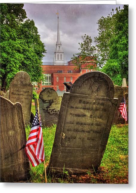 Copp's Hill Burying Ground - North End Boston Greeting Card by Joann Vitali