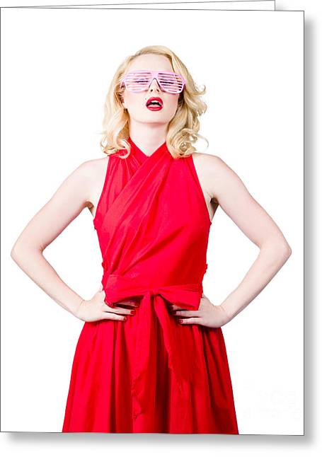 Copy Space Cadet On Frontier Of Retro Fashion  Greeting Card by Jorgo Photography - Wall Art Gallery
