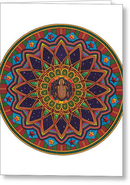 Coqui Greeting Cards - Coqui Mandala Greeting Card by Daniel Ramirez