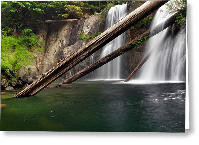 Coquille Falls 4 Greeting Card by Leland D Howard