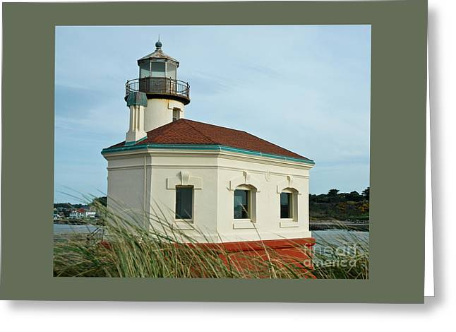 Historical Images Greeting Cards - Coquille River Lighthouse Greeting Card by Nick  Boren
