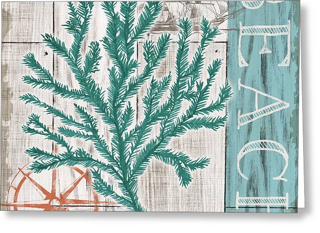 Sea Plants Greeting Cards - Coral Azul II Greeting Card by Paul Brent