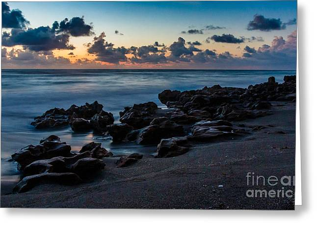 Beach Photography Greeting Cards - Coral Cove at Sunrise Greeting Card by Darleen Stry