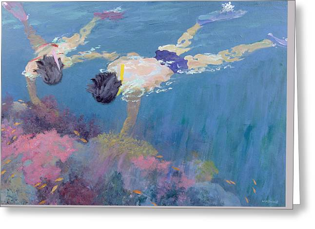 Scuba Diving Paintings Greeting Cards - Coral II  Greeting Card by William Ireland