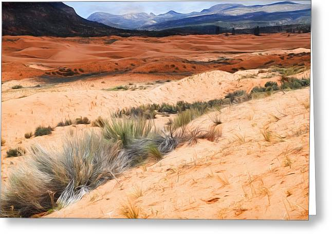 Coral Pink Sand Dunes Greeting Cards - Coral Pink Sand Dunes Greeting Card by Donna Kennedy