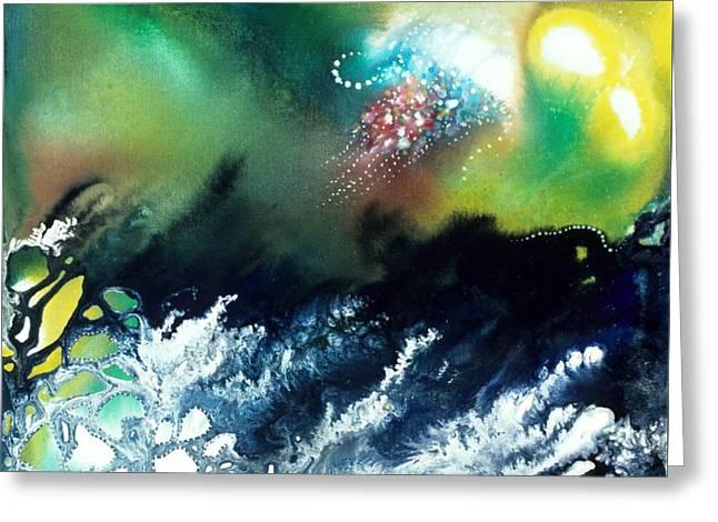 Recently Sold -  - Angel Mermaids Ocean Greeting Cards - Coral Reef of the Pacific Angel Greeting Card by Lee Pantas