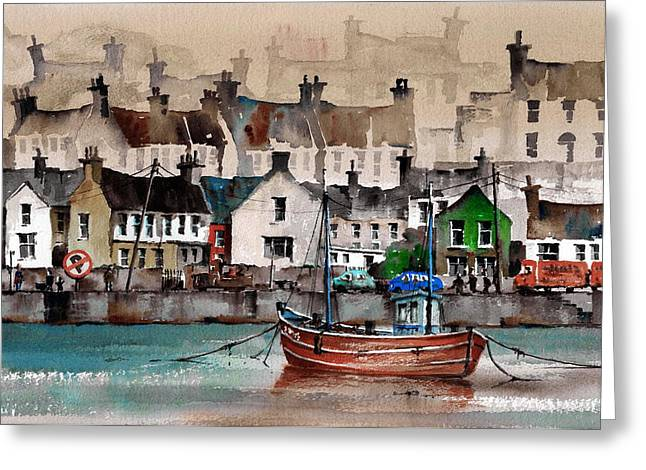 West Cork Greeting Cards - CORK Kinsale Quays Greeting Card by Val Byrne