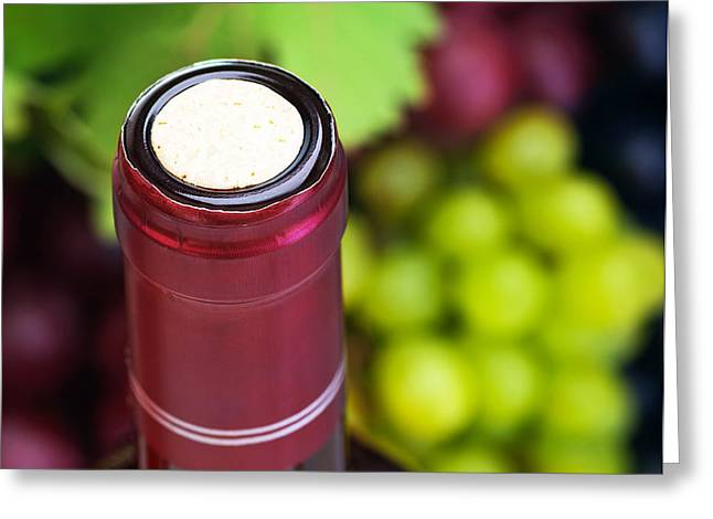 Cork of wine bottle  Greeting Card by Anna Omelchenko