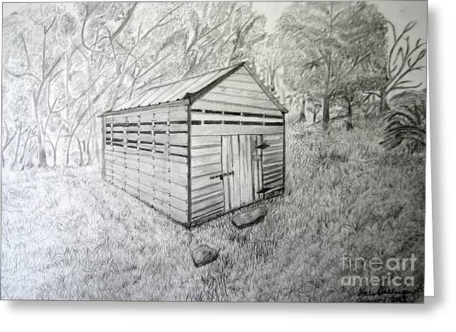 Outbuildings Greeting Cards - Smokehouse Greeting Card by Dale  Ballenger