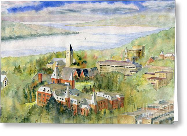 Ithaca Greeting Cards - Cornell University Greeting Card by Melly Terpening