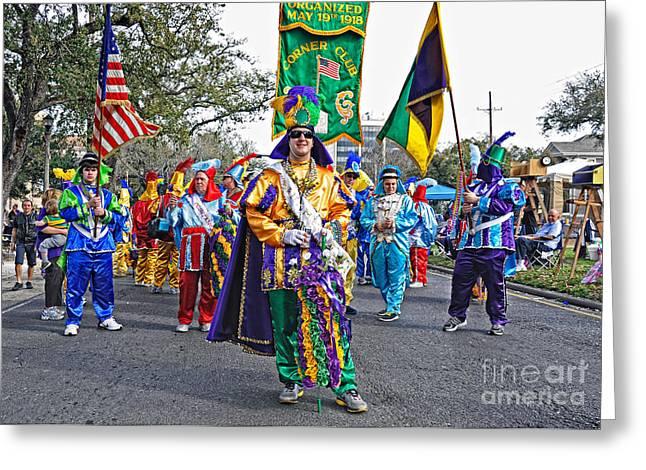 Corner Club 3 -mardi Gras New Orleans Greeting Card by Kathleen K Parker