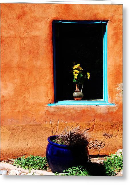 Sienna Greeting Cards - Corner in Santa Fe NM Greeting Card by Susanne Van Hulst