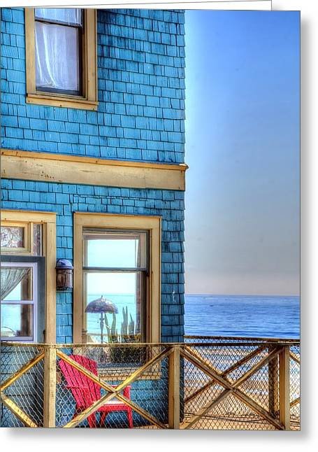 Kite Greeting Cards - Corner Ocean View 2236 Greeting Card by Jerry Sodorff