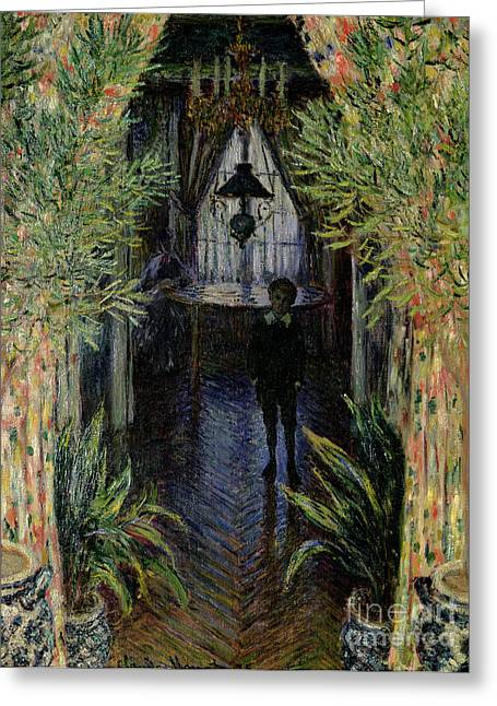 His Light Greeting Cards - Corner of a Flat at Argenteuil Greeting Card by Claude Monet