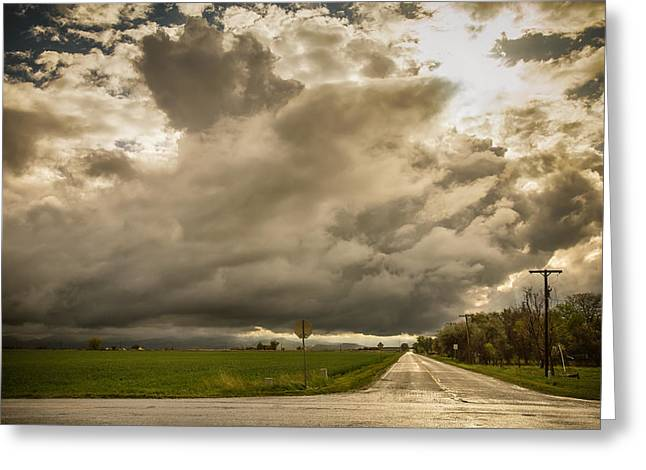 Summer Storm Greeting Cards - Corner Of A Storm Greeting Card by James BO  Insogna