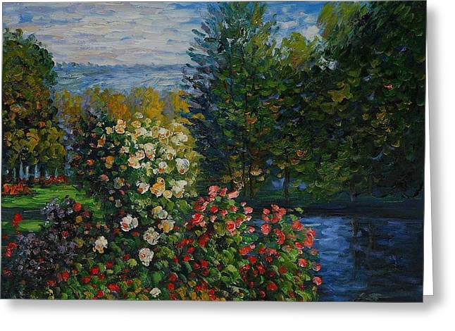 Corner Of The Garden At Montgeron Greeting Card by Claude Monet