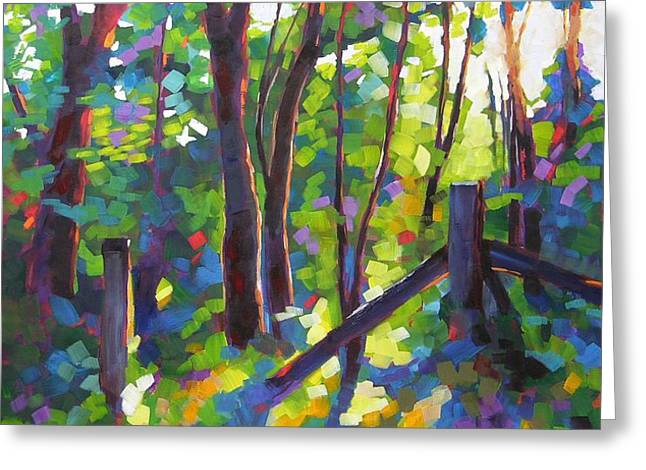 Corner Post Greeting Card by Mary McInnis