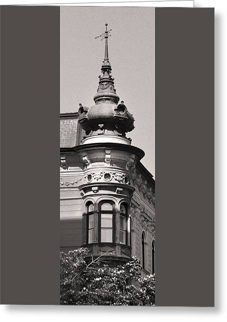 Belle Epoque Reliefs Greeting Cards - Corner Tower Budapest Greeting Card by James Dougherty