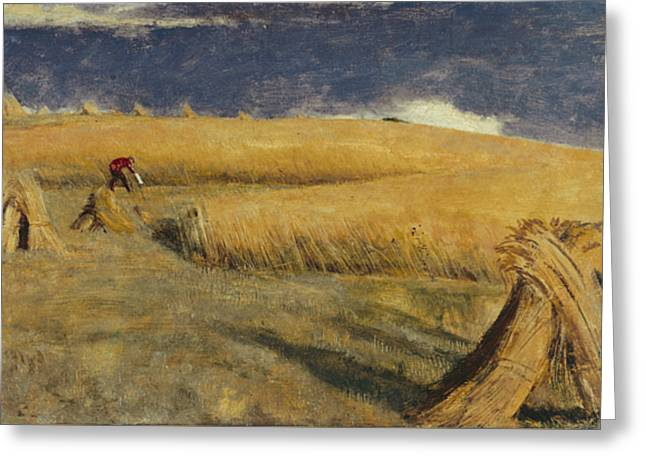 Cornfield At Ewell Greeting Card by William Holman Hunt