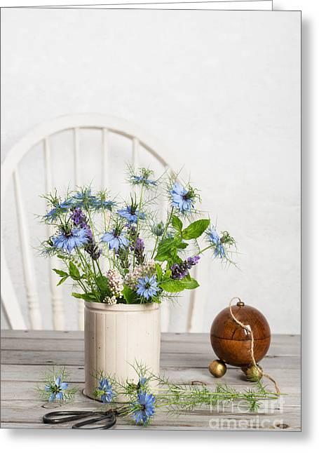 Cornflowers Greeting Card by Amanda Elwell