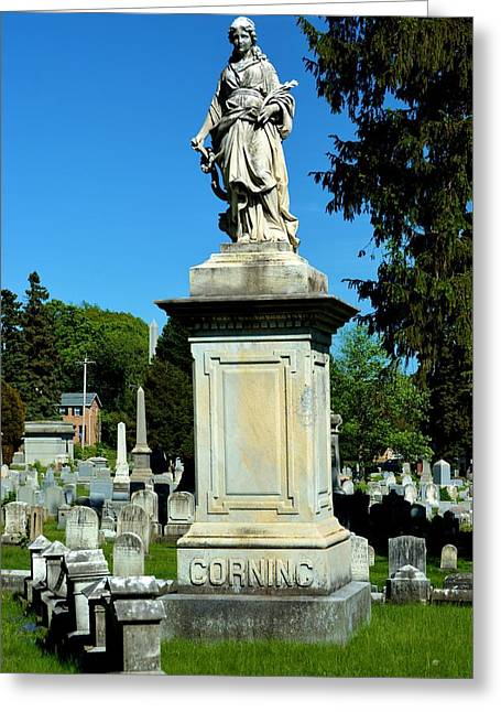 Marbel Greeting Cards - Corning Family Grave Site Greeting Card by Richard Jenkins
