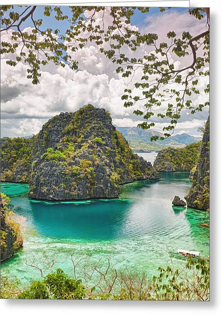 Island Greeting Cards - Coron lagoon Greeting Card by MotHaiBaPhoto Prints