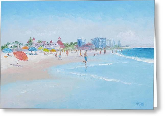 Coastal Greeting Cards - Coronado Beach San Diego Greeting Card by Jan Matson