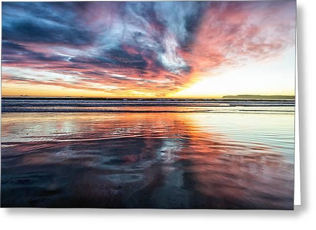 Sunset Seascape Greeting Cards - Coronado Sunset Greeting Card by Joseph S Giacalone