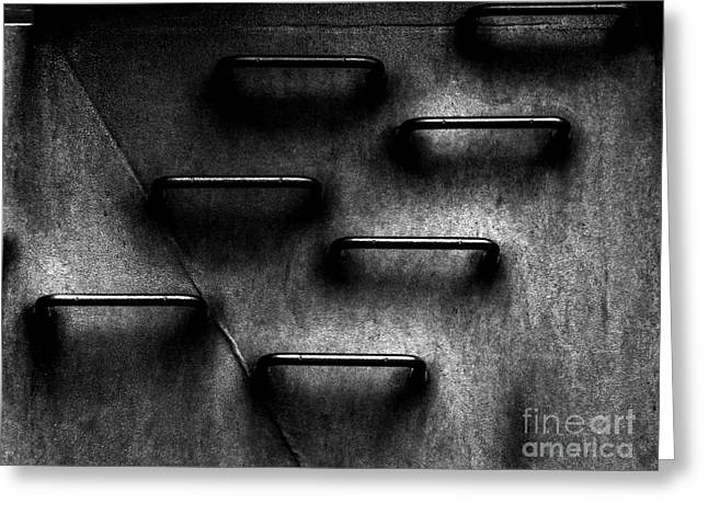 Abstract Geometric Greeting Cards - Corporate Ladder to Nowhere Greeting Card by James Aiken