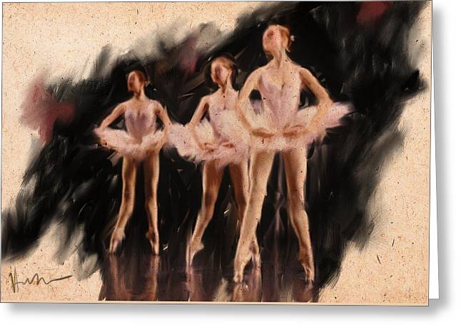 Corps De Ballet Greeting Card by H James Hoff