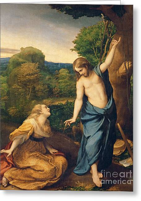 Picasso Greeting Cards - Correggio Greeting Card by Noli Me Tangere