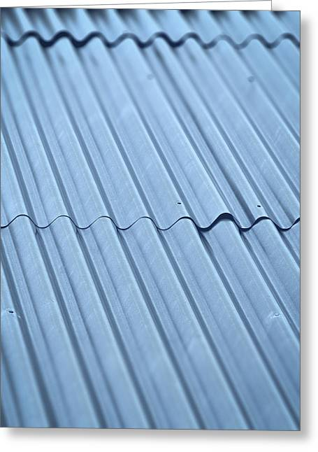 Corrugated Iron Roof Greeting Card by Jozef Jankola