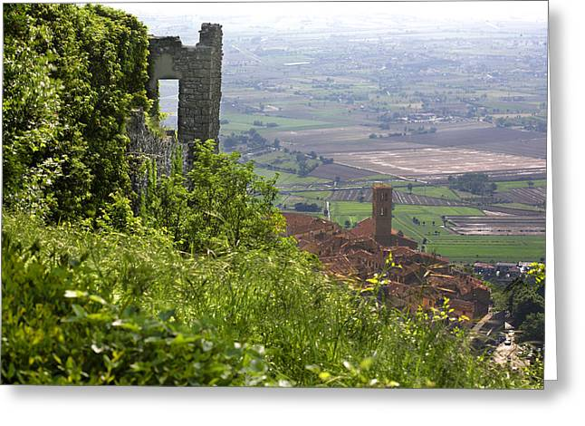 Medeival Greeting Cards - Cortona Afternoon Greeting Card by Al Hurley