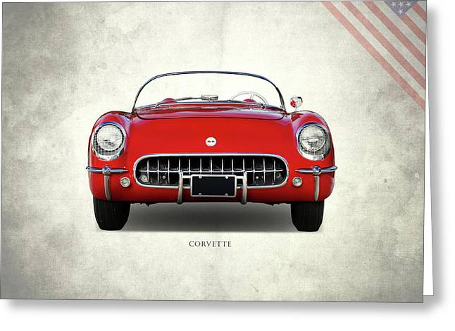 Corvette 1954 Front Greeting Card by Mark Rogan