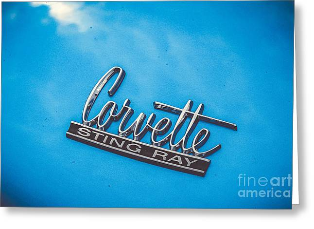 Rally Greeting Cards - Corvette - 1967 Greeting Card by Claudia Mottram