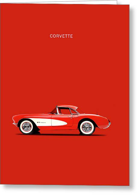 Corvette 57 Greeting Card by Mark Rogan