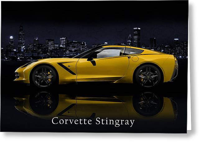 Transport Greeting Cards - Corvette Stingray Greeting Card by Mark Rogan