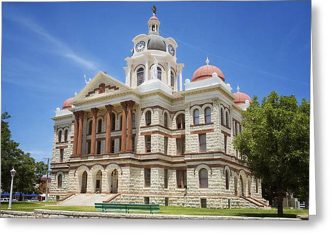 Coryell County Courthouse Greeting Card by Joan Carroll