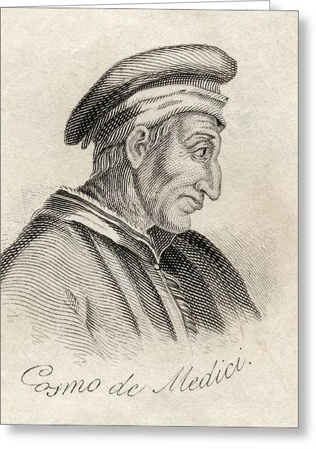 Pater Greeting Cards - Cosimo De Medici Byname Cosimo The Greeting Card by Ken Welsh