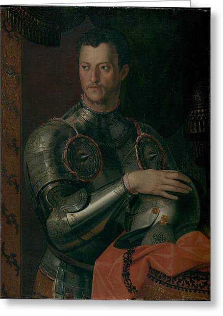 1574 Greeting Cards - Cosimo I de Medici Greeting Card by Celestial Images