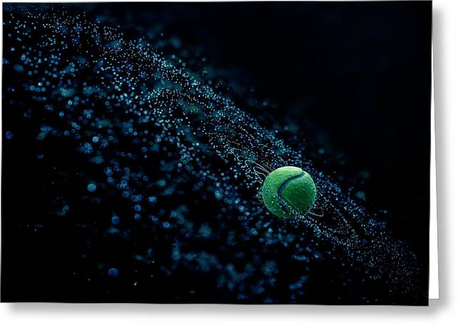 Tennis Ball Greeting Cards - Cosmic Ball Greeting Card by Joe Conroy
