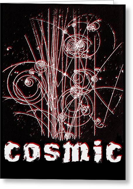 Cosmic Bubbles Greeting Card by Robert G Kernodle