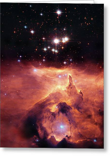 Hubble Photographs Greeting Cards - Cosmic Cave Greeting Card by The  Vault - Jennifer Rondinelli Reilly