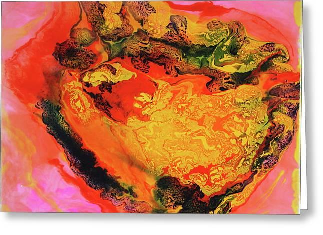 Cosmic Cloud Greeting Card by Madeleine Arnett