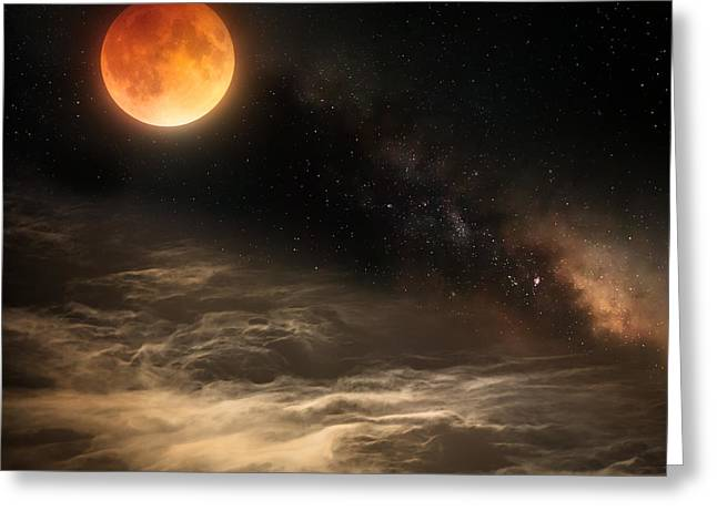 Cosmic Clouds Greeting Card by Bill Wakeley