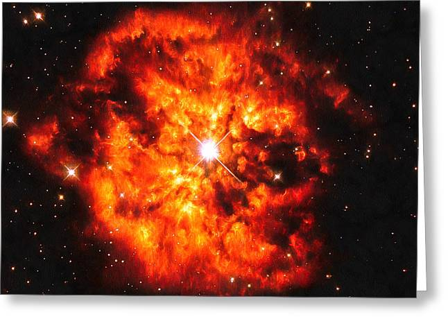 Cosmic Couple Star And Nebula Greeting Card by Matthias Hauser